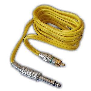 Clip Cord RCA - New Fontes - Amarelo