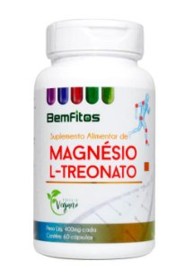 Magnésio L-Treonato Vegano 60caps 400mg