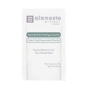 Argila Verde Com Pó De Águamarinha 30g - Elemento Mineral
