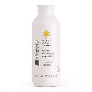 Shampoo Mineral Gloss Hidratação E Brilho 200ml - Elemento Mineral