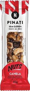 Barra Pinati Nuts Canela Vegano 30g - Super Saúde