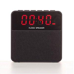 Caixa de Som Multimídia com Relógio