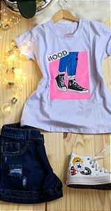T-Shirt Dream Colors Branco Mood