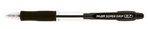 Caneta Esferográfica Super Grip 0.7 Preta- Pilot