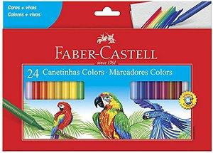 Canetinhas Colors - Faber-Castell 24 un