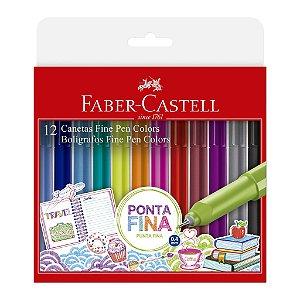 12 Canetas Fine Pen Colors - Faber-Castell