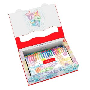60 Canetas Bolígrafos - Fine Pen Colors - Faber-Castell