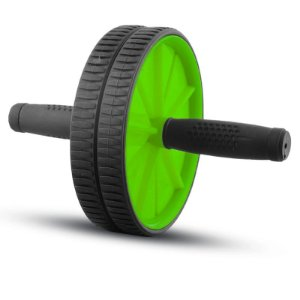 Roda Abdominal Wheel Stability Poker Verde/Preto