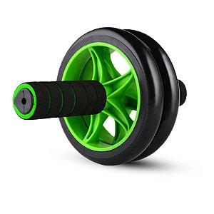 Roda Abdominal Wheel Balance Poker Preto/Verde