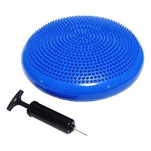 Disco de Equilíbrio Inflável com Bomba 34 cm Poker Azul