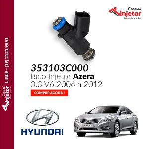 Bico Injetor Hyundai Azera 3.3 V6 2006 a 2012 353103c000