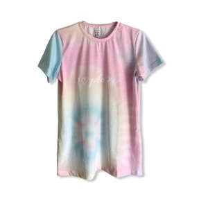 T-shirt I LOVE PILATES - Tie Dye
