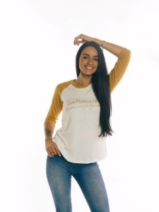 T-shirt Meia manga MAIS LEVE - Mostarda