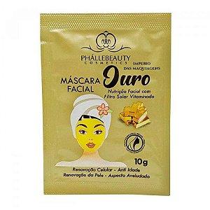 Mascara Facial Ouro Sachê - Phallebeauty