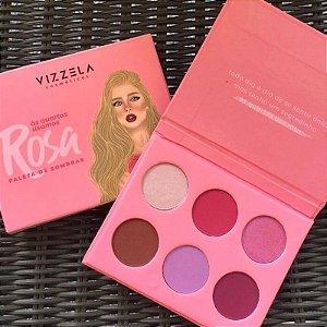 Paleta De Sombras Vizzela - As Quartas Usamos Rosa