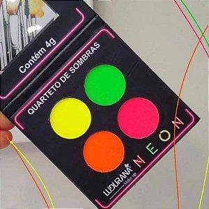 Quarteto De Sombras Neon Matte - Ludurana