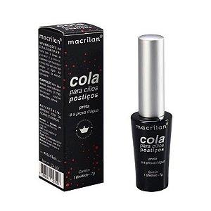 Cola Para Cílios Postiços Preta a Prova D'água - Macrilan