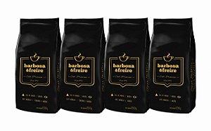 Café Arábica Barbosa e Freire - 2 pacotes de Grãos 250g + 2 pacotes de Café Arábica Torrado e Moído 250g (1kg no total)