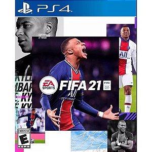 Jogo Game FIFA 21 Futebol - PS4