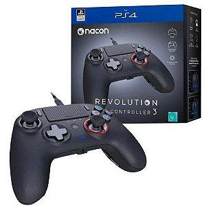 Controle Nacon Revolution Pro Controller 3 Black (Com fio, Preto) - PS4 e PC