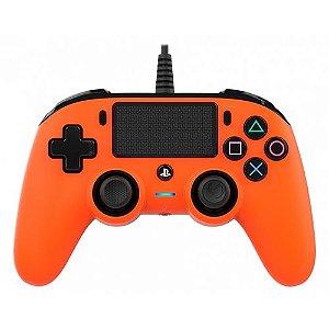 Controle Nacon Wired Compact Controller Orange (Com fio, Laranja) - PS4 e PC