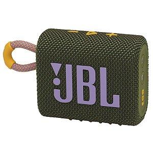 Caixa de Som Bluetooth JBL GO 3 Verde