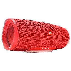 Caixa de Som Portátil JBL Charge 4 Bluetooth Vermelha