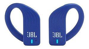 Fone Ouvido Bluetooth JBL Endurance Peak Esportivo Azul