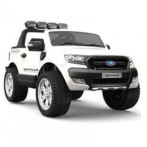 Carrinho Elétrico Ford Ranger Branco 12v - para duas crianças