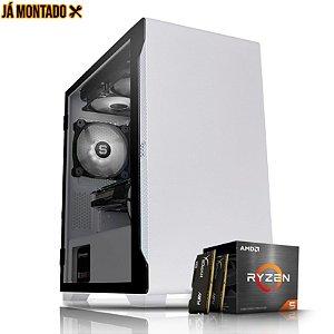 PC Gamer AMD Ryzen 5 2400G, Memoria 16GB RAM, SSD 240GB M.2, Fonte 500W, B450M