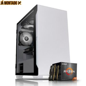 PC Gamer AMD Ryzen 5 2400G, Memoria 16GB RAM, SSD 480GB M.2, Fonte 500W, B450M