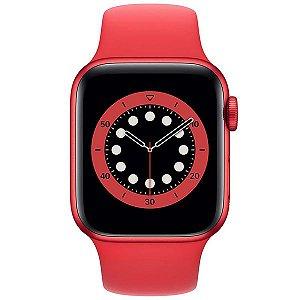 Apple Watch Series 6 GPS, 40 mm, Caixa Vermelha de Alumínio com Pulseira Esportiva Vermelha