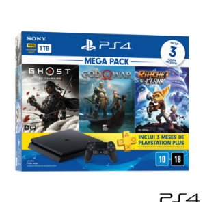 Mega Pack PlayStation®4 1TB com 01 Controle DualShock®4 e 03 Jogos