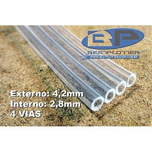 Mangueira para Tinta - 4mm - 4 Vias