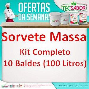 Promoção Kit Sorvete Massa 10 Baldes de 10 Litros