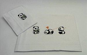Jogo de Cama Berço Panda