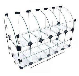 Expositor Modulado em Vidro 60x40x20 cm REF: 230