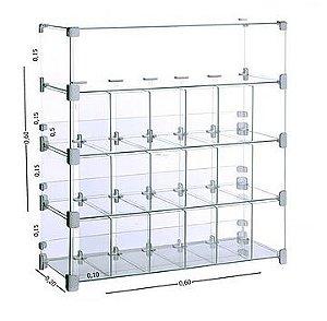 Baleiro Expositor Modulado em Vidro 60x60x20 cm REF: 207