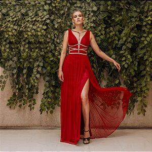 Vestido longo grego