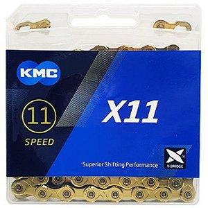 CORRENTE KMC X11 11V 118 ELOS DOURADA