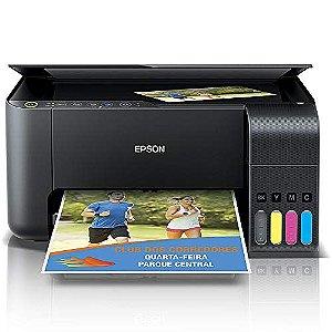Multifuncional Epson EcoTank L3150 - Tanque de Tinta Colorida, Wi-Fi Direct, USB, Bivolt - Preto - 110V/220V