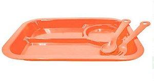 Kit Plástico Infantil Com Talheres Colorido