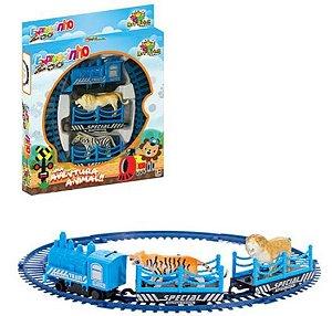 Trem Expressinho Zoológico A Pilha Com 11 Peças