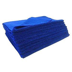 Kit C/20 Toalha de Microfibra Azul 40x60cm 300GSM  - EXC