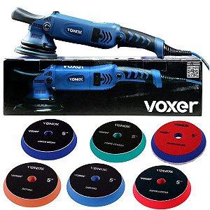 Politriz Roto Orbital 15mm 5pol 110v Voxer + 6 Boinas Vonixx