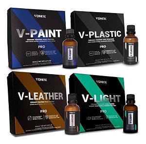 Kit Vitrificação V-paint V-plastic V-leather V-light 50ml