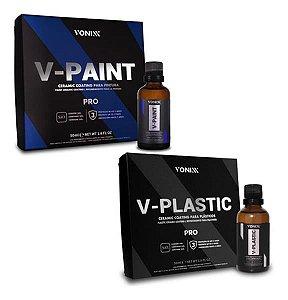 Kit Vitrificadores 50ml V- Paint + V- Plastic Vonixx