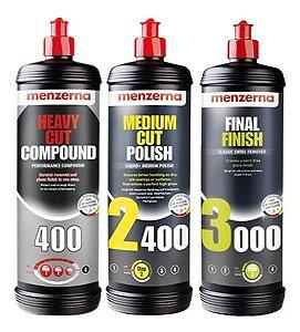 Kit Polimento Hcc400 + 2400 + 3000 1l - Menzerna
