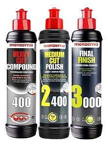 Kit Polimento Hcc400 + 2400 + 3000 250ml - Menzerna