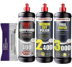Kit Polimento Hcc400 2400 3000 1l Menzerna + Clay Bar 80g